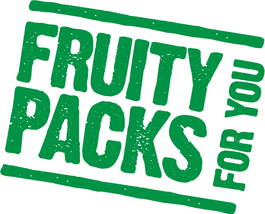 Fruity packs for you logo in green