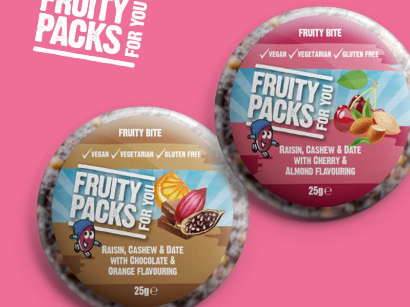 Image of fruity bites with an article about the importance of fibre