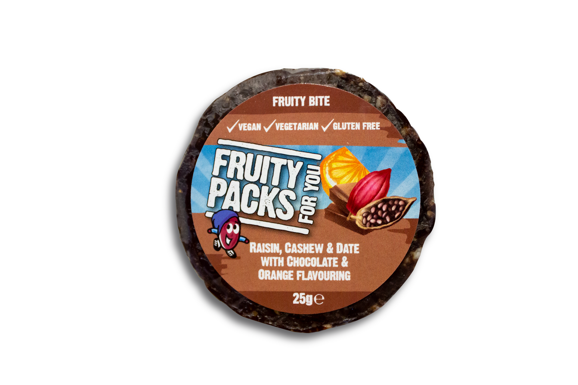 Fruity Packs chocolate & orange fruity bite